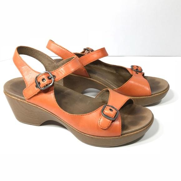 Dansko Schuhes   Joanie Joanie  Leder Ankle Strap Platform Sandale   Poshmark 083e27